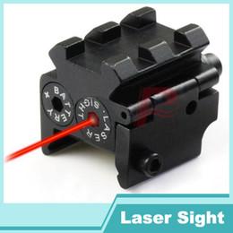 Wholesale Pistol Rail Mount - Tactical Mini Red Dot Laser Sight Scope Rail Weaver Detachable Picatinny 20MM Rail Mount For Pistol HT3-0012