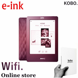 Wholesale E Books Readers - Kobo,6 inch, e-ink, ebook reader, touch screen,e book ,not glo, wifi,ereader,ink,books free shipping ,also have kindle for sale