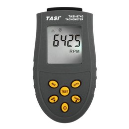 Wholesale Digital Tachometer Tester - TASI-8740 Non-contact Digital Tachometer rpm meter 2.5~99,999RPM Laser Photo Tachometer Speed measurements Tester