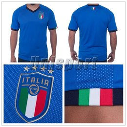 Wholesale Italy Home - World Cup 2018 Italy Home Men's Soccer Jerseys Futbol Camisa Italia National Camisetas Shirt Kit Maillot