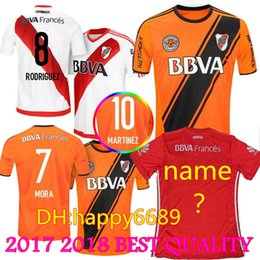 Wholesale Rivers Blue - 2017 2018 River Plate Defender Soccer Jersey 10 Martinez 23 Ponzio 7 Mora 11 Driussi 9 Larrondo 6 Lollo Rodriguez Alario Football Shirt