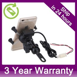 Wholesale Motor Phone Holder - Universal X-Grip Rotating Motocycle Mount Motor Bike Cell Phone Holder with USB Charging Port Free Shipping Whole Sale order<$18no track