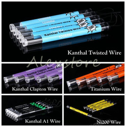 Wholesale Nickel Tubes - A1 Nickel Ni 200 Ni200 Nickel Clapton Wire Twisted Wire Titanium Wire 5 Different Heating Resistance 120mm Coil in a tube for RDA Atomizer