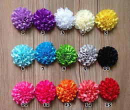 Wholesale Ribbon 5cm - Ribbon baby hair kids hair accessories for girls Carnation flower hair pins for hair fabric flowers 5cm