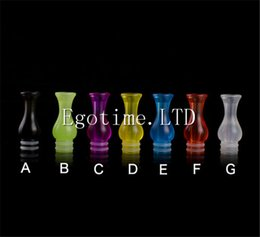 Wholesale Ee2 Electronic Cigarette - Colorful EGO Plastic Drip Tips Vase Mouthpiece Transparent for EE2  Vivi Nova  DCT T4 510 mechanical mod RDA RBA Electronic Cigarette E Cig