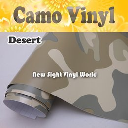 Wholesale Size Stickers For Motorcycles - Desert Camo Vinyl Wrap Desert Camouflage Film Air Release For SUV Vehicle Motorcycle Size:1.52 x 30m Roll(5ft x 98ft)