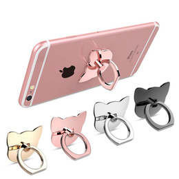 Wholesale Engagement Ring Holders - Finger Ring Mobile Phone Ring Holder Bracket Metal Lazy Ring Buckle Mobile Phone Bracket 360 Degree Stand Holder For all Smart Phone