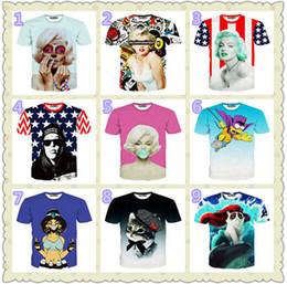 2019 bellezza della maglietta degli uomini T-shirt da uomo a maniche corte 3D Kitten stelle di bellezza stampa maglietta manica corta per gli uomini mescolano l'ordine bellezza della maglietta degli uomini economici