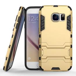Wholesale Hybrid Iphone 5g - Hybrid Armor Defender For Iphone 6 Plus 5G Samsung S5 S7 S6 Edge LG Hard PC TPU Plastic Case Holder kickstand Back cover