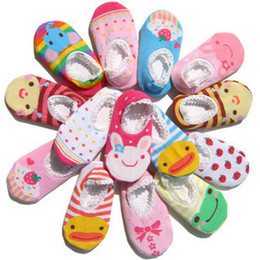 Wholesale Nissen Animal - Mix 15styles Nissen Cute non-slip baby cartoon boat socks boy girl cotton floor socks skidproof socks,infant kids toddle socks 0-2 years old
