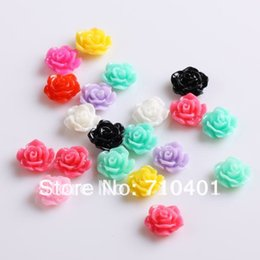 Wholesale Diy 3d Resin Nail Art - Xmas Free Shipping Wholesale  Nail Supplier,100pcs 3D Resin Colorful Flower DIY Acrylic UV Gel Polish Tool Nail Design  Nail Art