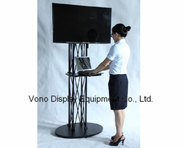 """Wholesale Lcd Plasma Stands - LCD display Portable stands exibition product trade show 32"""" to 72' plasma or LCD television stand truss display stand Black"""