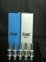 Wholesale Spin Airflow - Dual Coils Replacement for Vapen iTank spin II airflow control atomizer dual coils rebuildable clearomizer replacement core head