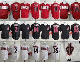 Wholesale Red Prado - Diamondbacks Jerseys Cool Base Aaron Hill, Martin Prado, Mark Trumbo, Trevor Cahill Jersey White Red Black