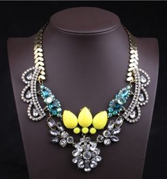Wholesale Western Necklaces - N00350 12pcs Factory Price Free DHL necklaces & pendants Trend fashion western chunky choker necklace statement women jewelry