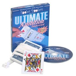 Wholesale Close Up Gimmick - Wholesale-Free Shipping! Ultimate Ambition Improved (DVD + Gimmick) - Trick, Stage,Close Up magic props, Accessories,Comedy,Coin,card