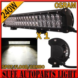 Wholesale Led Driving Lights 4wd - 4D OSRAM 240W 23 Inch LED Light Bar Off Road Work Lights Driving Lamp Combo Beam 12v 24v Truck SUV Boat 4X4 4WD ATV LED Bar 300W