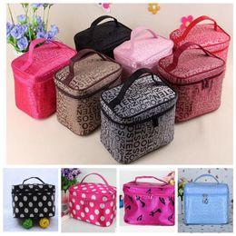 Wholesale Printed Storage Boxes - Cosmetic box women's large capacity storage handbag travel toiletry makeup bag print Storage Beauty Bag KKA3490