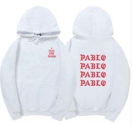 Wholesale Paul Hoodies - I Feel Like Paul Pablo Kanye West sweat homme hoodies men Sweatshirt Hoodies Hip Hop Streetwear Hoody pablo hoodie