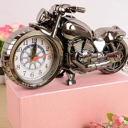 Wholesale Motorbike Alarm Clock - Stylish Motorbike Style Table Desk Clock Alarms Cartoon Motorcycle Toy Bells Clocks Kids Birthday Festival Gifts sw318