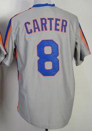 Wholesale Throwback Jersey Cheap China - 2015 #8 Gary Carter Grey Throwback Stitched Jersey,2015 Baseball Jersey,Wholesale Cheap Baseball Jerseys From China