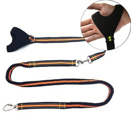 Wholesale Shocking Collars For Dogs - High Quality Hand Gripped Reflective Pet Dog Leash For Running Lead Elasticity Dog Leash Shock Absorber Strong Leash For Dog