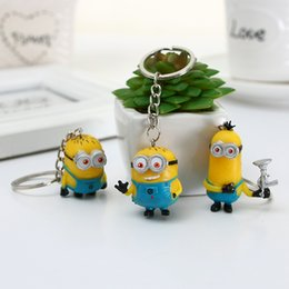 Wholesale Despicable Girls - Despicable Me key chain pendant key ring bag accessory key ring decorative accessories pants