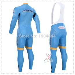 Wholesale Astana Cycling Clothes - Wholesale-2015 ASTANA winter thermal fleece cycling jersey ropa ciclismo long sleeve set cycling clothing winter maillot ciclismo mtb