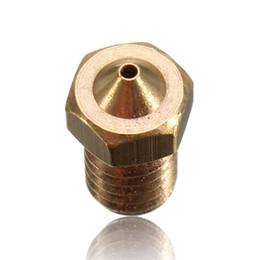 Wholesale Filament Extruder - 3 D Printer Nozzle Accessories Brass Nozzle 8mm 1.25mm Filament Copper Nozzle Extruder Head Print Head Nozzle Printer Parts