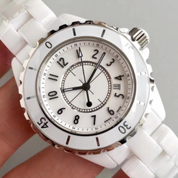 Wholesale Ladies Ceramic - Luxury AAA Brand Lady White Black Ceramic Watches High Quality Quartz Fashion Exquisite Women Watches Wristwatches
