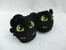 Wholesale adult figure anime - Free Shipping How to train your dragon toothless Plush Shoes Winter Indoor Warm Slippers Two styles For Adult Open Mouth & Close Mouth