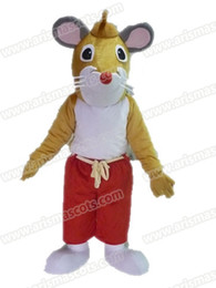Wholesale Mouse Mascot Outfits - AM9220 Mouse mascot costume Fur mascot suit animal mascot outfit adult fancy dress