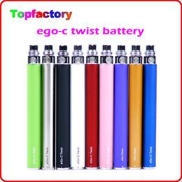 Wholesale Electronic Cigarette Colorful Battery Twist - eGo-C Twist Battery ego c twist variable voltage colorful battery 650mah 900mah 1100mah 1300mah for ego electronic cigarette DHL Free ship