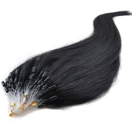 Wholesale Hair Extensions Micro Looped Cheap - Micro Loop Hair,18-28'' Loop Micro Ring cheap Hair Extensions,straight virgin Micro ring hair extension