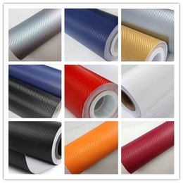 Wholesale Carbon Sticker For Mobile Phones - 3D Carbon fiber Vinyl Wrap for Car Mobile Phone Computer Surface Vehicle Wrapping Decoration Sticker 30Meter Exterior Accessories