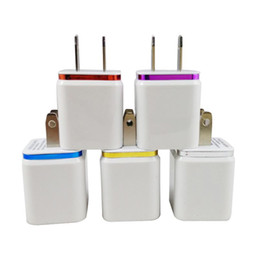 Wholesale Dual Usb Wall Charger Iphone - Dual USB Wall Charger Home travel adapter 5V 2.1A US EU Metal Power Adapter 2 ports for iphone 6 ipad Samsung