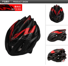 Wholesale Bicycle Helmet Red - Wholesale-Cycling Helmet Bicycle Helmet Capacete Ciclismo Casco Bicicleta SAHOO Capacete MTB Bicycle Helmet Cascos Para Bici Caschi Mujer