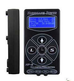 Wholesale Dual Lcd Tattoo - Wholesale-2015 Hot Selling Black HP2 Hurricane Tattoo Power Digital Dual LCD Display Tattoo Power Supply Free Shipping