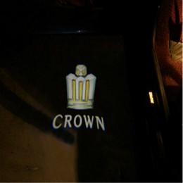 Wholesale car door logo light toyota - Special offer 2pcs car door Welcome light 3D ghost shadow lamp door logo light Welcome projector light For Crown 2005-2017
