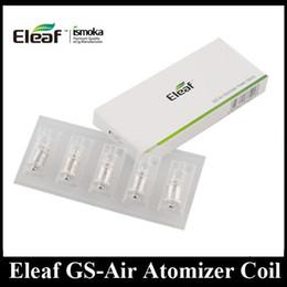 Wholesale Core Air - Original Eleaf GS-Air Coil 0..15 0.75 1.2 1.5ohm Replacement Coil Core for GS Air Atomizer Huge Vapor Tank