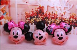 Wholesale New Minnie - 2017 New Mickey Mouse Aluminum Balloon big size Mickey Minnie Foil Balloon baby shower ballon for Kids Gifts Toys Birthday Party Decoration