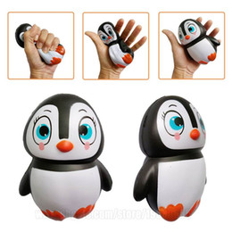 Wholesale Kawaii Decor - Squishy Gift Penguin Child Perfume Squeeze Squishies Girl Kawaii Toy Animals Female Simulation Decor Slow Rising Free Shipping SQU022