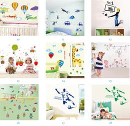 Orden de la mezcla al por mayor extraíble calcomanías para el hogar Kids Room pegatinas de pared Nursery Wall Decor 50x70 cm Wall Art envío gratis desde fabricantes