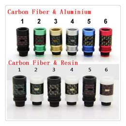 Wholesale Aluminium Tips - Carbon Fiber & resin or aluminium 510 Drip Tips Air Control Wide Bore Drip Tips Colorful Drip tip fit RDA Atomizer