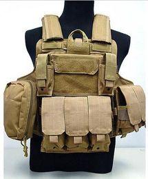 Wholesale molle black vest - MOLLE Plate Carrier Ciras Mar Tactical Vest protective vest CS Tactical Vest, Top quality Nylon 1000D Combat Strike Plate Carrier Mag Pouch