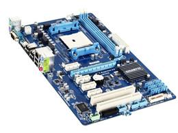 Wholesale Gigabyte Amd Motherboards - Free shipping original desktop motherboard for Gigabyte GA-A55-S3P A55-S3P DDR3 Socket FM1 Gigabit Ethernet motherboards