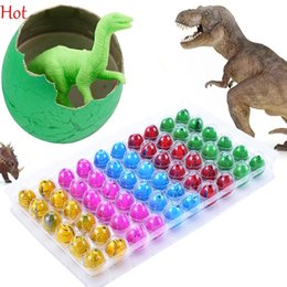 Wholesale Educational Gifts - 60pcs set Novel Toys Water Hatching Inflation Dinosaur Eggs Watercolor Cracks Grow Egg Educational Toys Interesting Birthday Gift SV009882