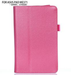 All'ingrosso-3 in 1 New PU Custodia in pelle Flip Cover per Asus FonePad ME371 ME371MG 7 pollici Tablet 7 '' + Screen Fillm + Stylus Free da
