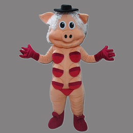 Wholesale Lovely Pink Pig Mascot - Hot New: Lovely New Pink Pig Monster Mascot Costume For Festival Hallooween Christmas