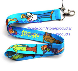 Wholesale Phone 42 - free shipping - Wholesale - 10pcs Scooby Doo Chains Mobile Cell Phone Lanyard Neck Straps Favors S#42